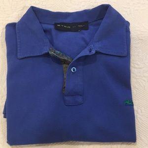 Etro cobalt blue polo shirt size medium